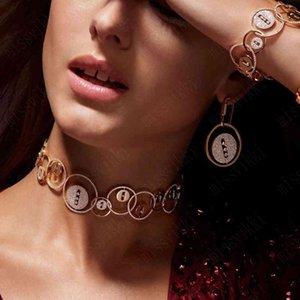 missvikki Trendy Luxury Noblewoman Necklace Bangle Earrings Ring Jewelry Sets For Women Wedding High Quality Dubai Style