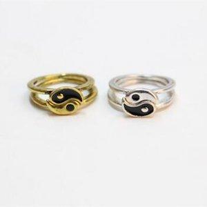 10pcs / classic Tai Chi acht Diagramme Design Ringe Das Konzept der chinesischen taoistischen Kultur Vintage Art Ring