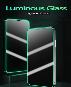 2021 New Luminous 3D soft edge silicone fall-proof mobile phone protector film For iPhone 13 12 11 pro max 6s 7 8plus xsmax