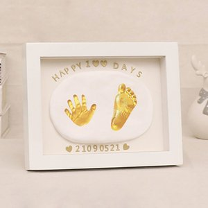 Baby Footprint Photo Frame Non-Toxic Handprint Clay DIY Casting Kit For Newborn Baby Gifts Souvenirs Children's And Babies Items
