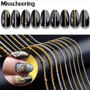 9 tipi oro argento catene in metallo punk croce 3D nail art decorazioni charm gioielli di fascino rendimento accessori fai da te strumenti manicure