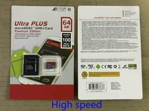 Hohe Qualität Neue Ultra-A1 16 GB / 32 GB / 64GB / 128 GB / 256GB Ist-Kapazität Micro-Speicher SD-Karte 100MB / s UHS-i C10 TF-Karte mit Adapter