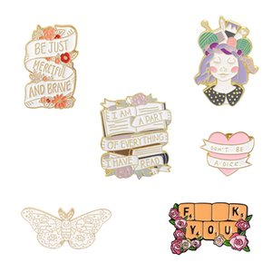 Originality Love Butterfly Brooches Pin Personality Cartoon Letter Brooch Ornaments Girl Party Gift 2 5qb T2