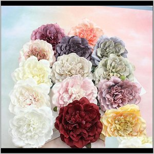 Flowers Wreaths 2Pcs Peony Heads Decorative Scrapbooking Artificial Flower For Home Wedding Birthday Party Decoration Supplies Ovcis 5Trdx