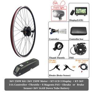 eBike Kit Motor Wheel Hub 48V 500W 1000W 1500W 36V 250W Electric e Bike Bicycle Conversion with Battery