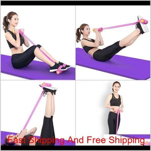 Training Athletic Outdoor Accs Sports Outdoors On Pulling Rope Crunches Expander Chest Expansion Elastic String Fitness Equipment Hous