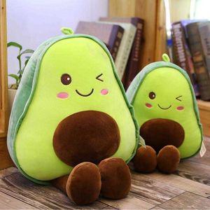 30cm 아보카도 플러시 장난감 귀여운 필로우 쿠션 카와이 과일 어린이를위한 인형 장난감을 던져 베개 생일 선물