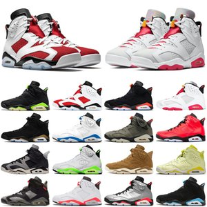 Electric Green jumpman 6 6s men basketball shoes Carmine Hare DMP Infrared UNC sports sneakers mens trainers size 7-13