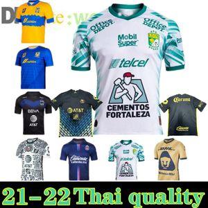 Liga MX 21 22 Club Amerika Futbol Formaları Leon Üçüncü 2022 Meksika Léon Tijuana Tighes Unam Chivas Cruz Azul 3rd Futbol Gömlek S-3XL