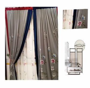 Polyester Door Curtain Tassel Thread String Room Divider Panel Window Deco Screen High-end Villa Model & Drapes