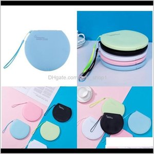 Boxes Bins Storage Box Mask Case Circular Organizer Face Masks Holder Frosting Plastic Black White Blue Transparent Portable Qylucr N8 T2G8O
