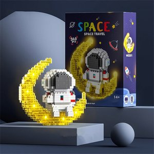 DHL FREE MiniFig Assembled Small Particle Puzzle Toy Blocks Compatible With Space Astronauts Children Mini Three-Dimensional Puzzles