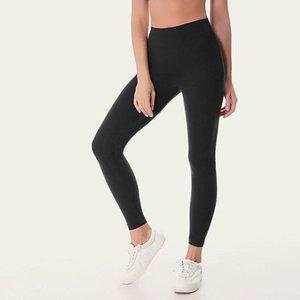 L32 женские дизайнеры YogapantShigh талия выровняйте спортивный тренажерный зал носить леггинсы упругие фитнес леди общие полные колготки тренировки