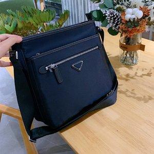 Men's Black Briefcases Shoulder Bags Designer Nylon Crossbody Briefcase Triangle Sequin Business Purses Fashion Comumuting Messenger Bag