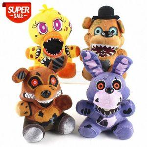 DHL 선박 Freddy 's Fnaf Plush 장난감 인형 Freddy Bear Foxy Chica Bonnie 박제 동물 인형 크리스마스 생일 선물