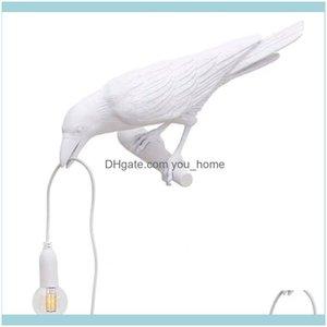 Deco El Supplies Home & Gardenlucky Bird Decorative Wall Lamp Personality Creativity Bedroom Bedside Elegant With Light Ce Drop Delivery 202