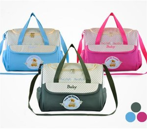 Wholesale Cartoon Embroidery Baby Diaper Bag Waterproof Micro Fiber Mommy Bag Nappy Bag 887 V2