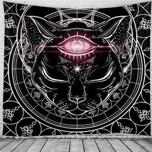 고양이 태피스 트리 인도 Mandaa Macrame Tapestry WA 교수형 Boho 장식 히피 요술 태피스트리