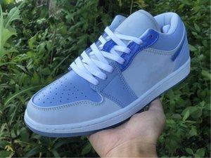 Con scatola da uomo Donne 1s scarpe da basket 1 basso il possente swooshers designer designer di lusso allenatore sportivo atletico sneakers sportivi
