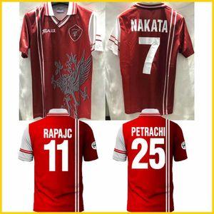 1998 1999 Pérugia rétro Jersey 98 99 Associazione Calcicicio Calcio Nakata Rapajc Petrachi Vintage Vintage Football Shirt