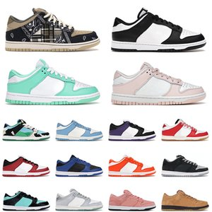 travis scott dunks black white outdoor shoes green glow cherry university red chunky dunky dunk skateboard men trainers sneakers