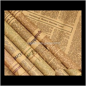 45 Sheets Retro Nostalgic English Word Spaper Bouquet Wrapping Packaging Paper Packing Business Industrial Ha730 Vk6D Ogy0G