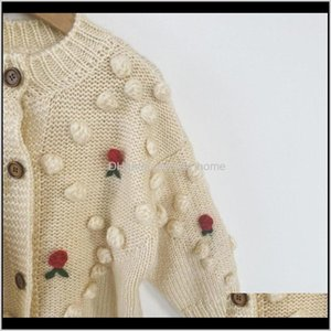 16Yrs Girls Loose Printing Knit Clothing Autumn Baby Girl Long Sleeve Kids Children Cardigan Coat 201127 Zfsc8 Og8Kk