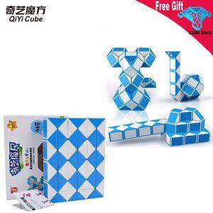 Qiyi детские головоломки smallToy для детей Magic Cube 48 сегментов Magic Snake Линейка Cube Puzzle Speed Антистресс Кубики Twist Фелди