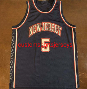 Hommes Femmes Jeunes Jeux Vintage New Jersey Jason Kidd Backball Jersey Broderie Ajouter n'importe quel nom Numéro