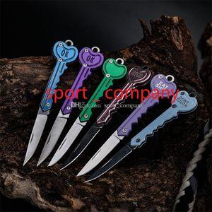 Großhandel Mini Keychain Messer Tasche Fruit Messer Schlüsselanhänger Klappmesser Schlüsseltaste Multi-Tool Brief Öffnung Gadget Kit Camp Camp Outdoc EDC-Werkzeug