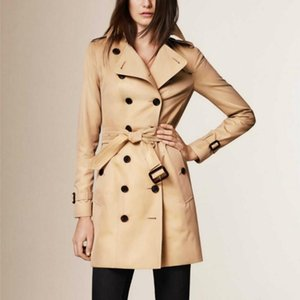 Women's Trench Coats 2021 Autumn Winter Casual Women Coat Oversize Double Breasted Vintage Washed Outwear Loose Clothing