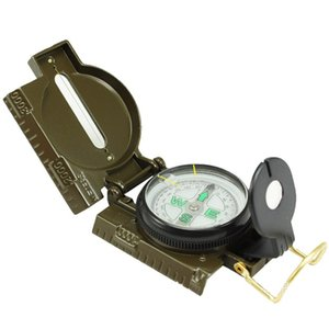 Round Outdoor Rientation Tool Plastics Shell Golds Plated Compasses Numeral Compass Portables Multi Function Army Green 4 9ql L2 1009 Z2