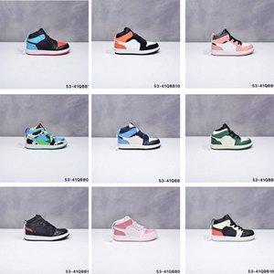 أحذية رياضية الرضع أنا أحذية كرة السلة للأطفال روز التصحيح الرقمية الوردي المعدنية الذهب 1 ثانية الاطفال بوي فتاة رياضة الصغار جديد مولود الأطفال المدربين الأطفال حذاء