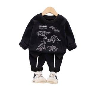 Designer Korean Dinosaur Clothing Suit Toddler Boys Casual Set Baby Boy Sportswear Infant Boy's Children Round neck sweater Sets