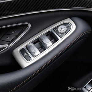 자동차 내부 액세서리 벤츠 오디오 기어 변속 패널 도어 문 메르세데스 트림 스티커 스피커 W222 클래스 S 커버 2021-19 Armrest Indfb