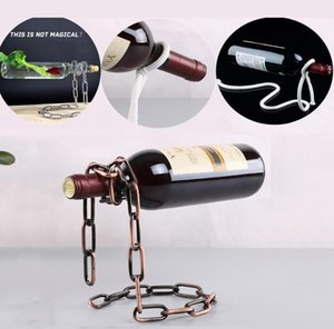 Magic Red Wine Bottle Holder Creative Suspension Rope Chain Support Frame For Red Wine Bottle 3cm Home Furnishing ornaments