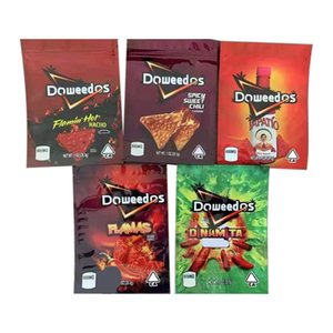 Doweedos Mylar Bag Пустой съемка Пакет Gummies Baggie Пахнуть Доказательство пылезащитный 600 мг Розничная сумка для сухого трав Vape