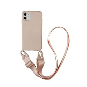 Luxury Silicone Chain Necklace Phone Case For iPhone 12 11 Pro Max 7 8 Plus X XR XS Back Cover with Neck Strap Rope Cord