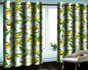 Yellow Lemon 3d Blackout Curtain Living Room Bedroom Kitchen Home Improvement Painting Mural Modern Beautiful Window Curtains