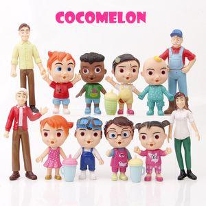 Anime melon jj Figure Toy PVC Model Dolls Kids Baby Cake decoration toys 12pcs set Christmas Gift zx32