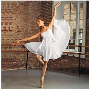 Stage Wear Summer Style Contracted Ballet Skirt Vogue Breathable Practice Skill Dance Adult Condole Belt Show Woman's Dress