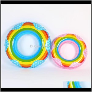 Thickening Rainbow Swimming Ring For Kids Adults Cute Creative Pool Floating Mat Multi Size Choose High Quality 7 5Xr Jzzf Floats C0Pnh