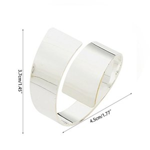 Pcs Silver Napkin Rings Metal Holders For Wedding Dinner Party Banquet 72XF