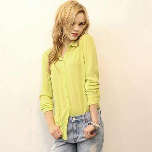 Autumn Solid Oxford Mint Women Blouses Long Sleeve Causal Blouse Shirt Simple Design Ladies Office S-2XL Women's & Shirts