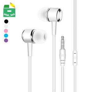 3.5mm In-Ear Earphones Noise Cancelling Headphones Music Headset for iPhone Samsung S8 S9 S10 Smartphones