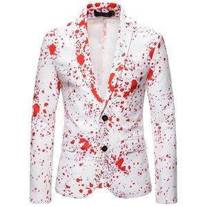 Tie Dye Mens Blazers Long Sleeve Mens Lapel Neck Single Breasted Outerwear Fashion Mens Slim Suit