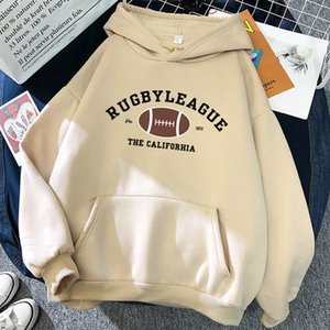 2021 Rugby pocket drawstring hoodie men and women casual wild fashion couple oversize sweatshirt multicolor ins retro pullover