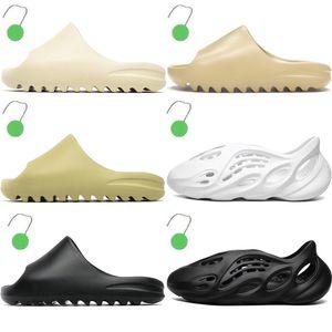 women slipper shoes men slides Slippers Bone Resin sandals triple black Earth Brown mens trainers womens beach Wide Flat Slippery Flip Flop