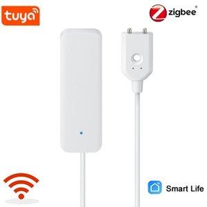 Akıllı Ev Kontrolü Tuya Zigbee Alarm Su Kaçak Wifi Kaçak Sensörü Dedektörü Sel Alert Taşma Sistemi Alexa