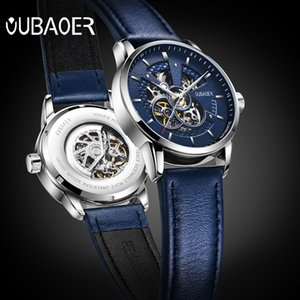 Automatic Fashion Leather Waterproof Mechanical Watch Hollow Men's
